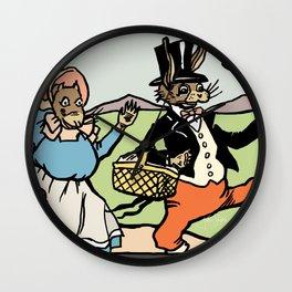 Uncle Wiggily & Nurse Jane Go Picnicking Wall Clock