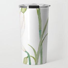 angelic snowdrop flowers watercolor Travel Mug