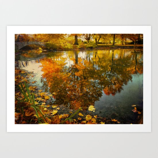 Reflection of the fall Art Print