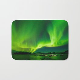 Iceland Northern Lights Bath Mat