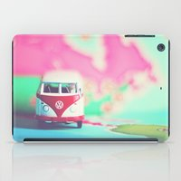 vw bus iPad Cases featuring Red & White VW Bus by Anna Dykema Photography