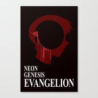 evangelion Canvas Prints featuring EVANGELION by Nick Dauphin