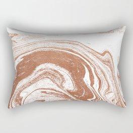 Marble copper metallic suminagashi spilled ink japanese marbling abstract ocean swirl Rectangular Pillow