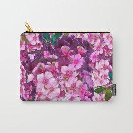 PURPLE-PINK PHLOX FLOWERS AVOCADO ART Carry-All Pouch