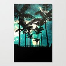 Palm Trees & Stars Canvas Print