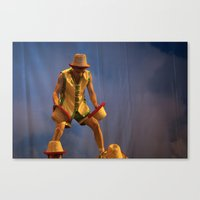 hats Canvas Prints featuring Hats by Xavier Munguia