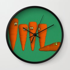 Is that a...zombie carrot!?!! Wall Clock