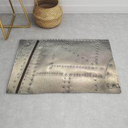 Aluminium Aircraft Skin Abstract Texture Rug