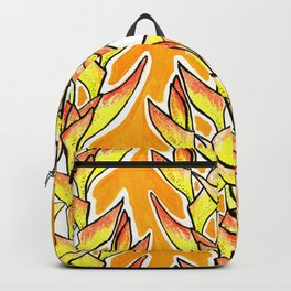 Heliconia Rostrata / Lobster Claw, yellow, orange  & white, Backpack