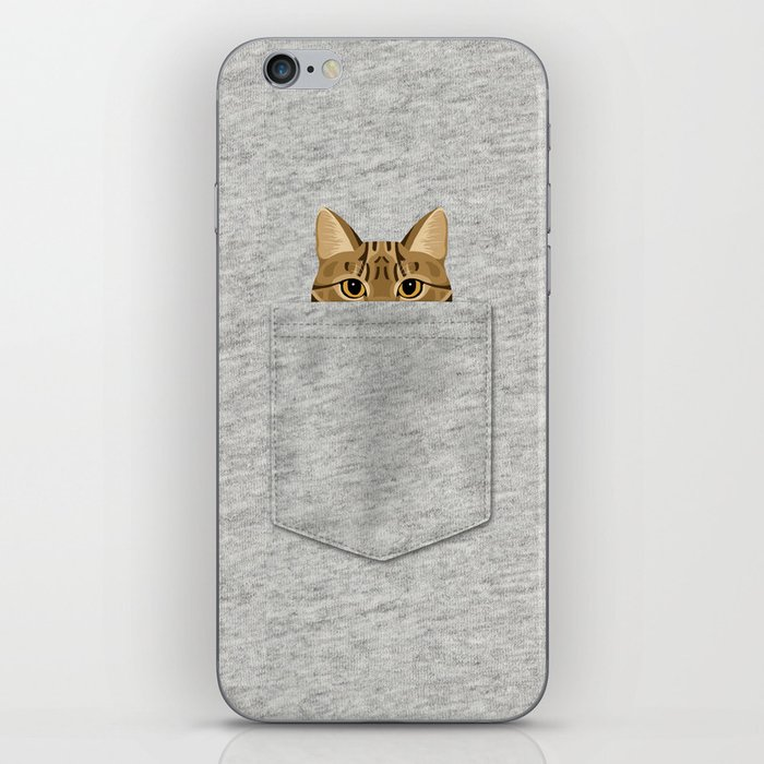 Pocket Tabby Cat iPhone Skin