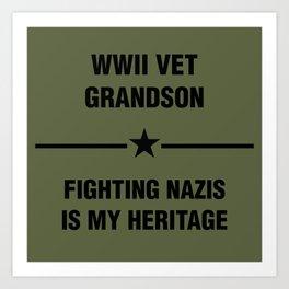 WWII Grandson Heritage Art Print
