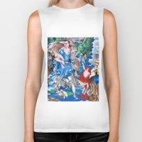 sam smith Biker Tanks featuring Blue Fairy, Sam Fan Art by Annette Jimerson