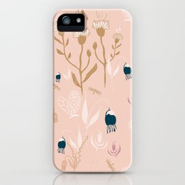 Magic Garden - Pink and Gold iPhone Case