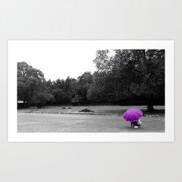 Purple Distant Art Print