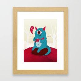 The singing Monster Framed Art Print