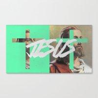 jesus Canvas Prints featuring JESUS by Jackson Todd