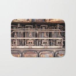 rust - ancient abandoned engine Bath Mat