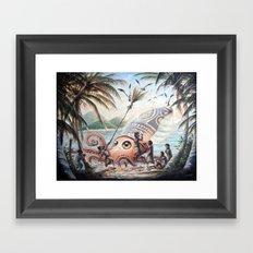 architeuthis conpunctus Framed Art Print