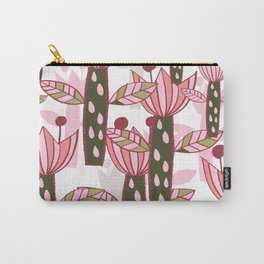 flower pink contemporary kids nursery Carry-All Pouch