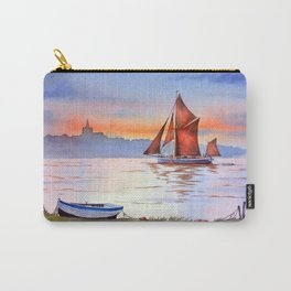 Thames Barge At Maldon England Carry-All Pouch