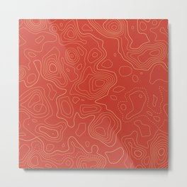 Topographic Map 02A Metal Print