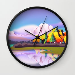 Grand Tetons over Jenny Lake Wall Clock