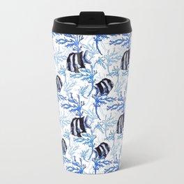 Damselfish in Blue Coral Travel Mug