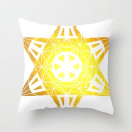 Metatron's Cube Time Wheel ~ Enlightenment Throw Pillow