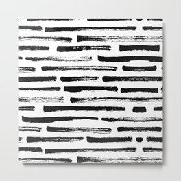 Brush lines Metal Print
