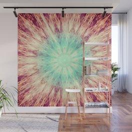 Mandala Glow Teal Aqua Peach Wall Mural