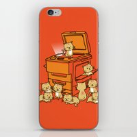orange iPhone & iPod Skins featuring The Original Copycat by Picomodi