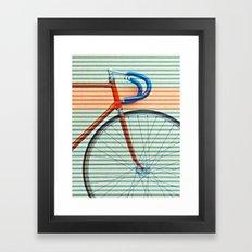 Standard Striped Bike Framed Art Print