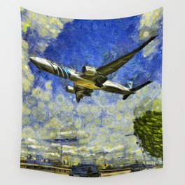 Airliner Van Gogh Wall Tapestry