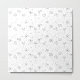 Dandelions in Grey Metal Print