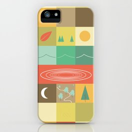 Patchwork Mapwork iPhone Case