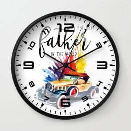 Best father #2 in the world   Father's day Wall Clock