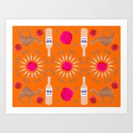 Desert Rosé I Art Print