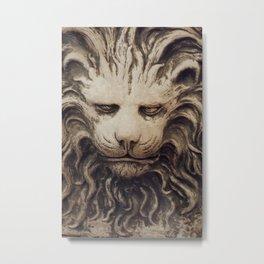 Big Lion Metal Print