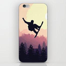 Snowboard Skyline III iPhone Skin