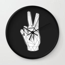 Geometric Peace sign Wall Clock