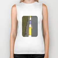 library Biker Tanks featuring Library Line  by Ethna Gillespie