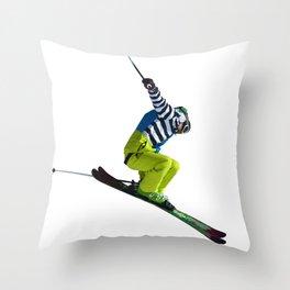 Freeride Jumping Throw Pillow