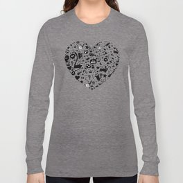Halloween Heart Long Sleeve T-shirt
