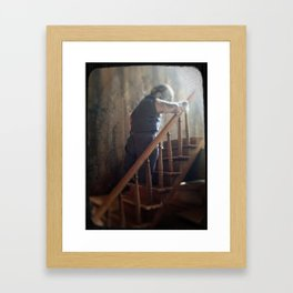 climbing as we fall Framed Art Print