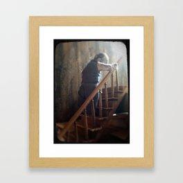 climbing as we fall Framed Art Print
