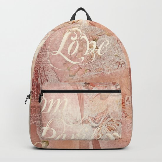 From Paris With Love In Salmon-Rosé Backpack