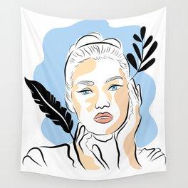 beautiful woman Wall Tapestry