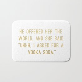 Vodka Soda Bath Mat