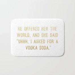 Vodka Soda Bath Mat