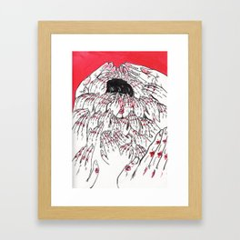 Keep Moving Forward. Please. Framed Art Print